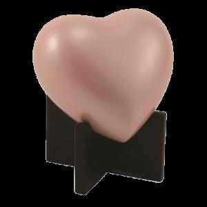 Baby heart pink urn
