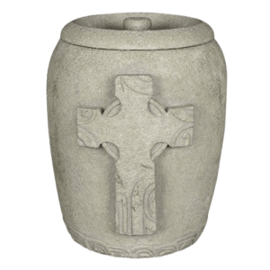 Religious individuals and their families will take comfort in the appearance of a religious cremation urn