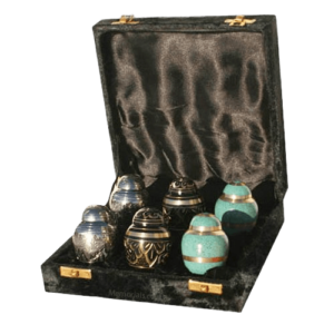 Keepsake cremation urns offer a way to preserve a small remembrance