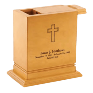 A scattering urn is specially designed to help in spreading the contents within.