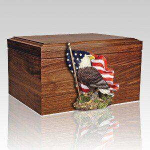 Veteran Cremation urns capture the legacy of a true American hero or patriotic individual